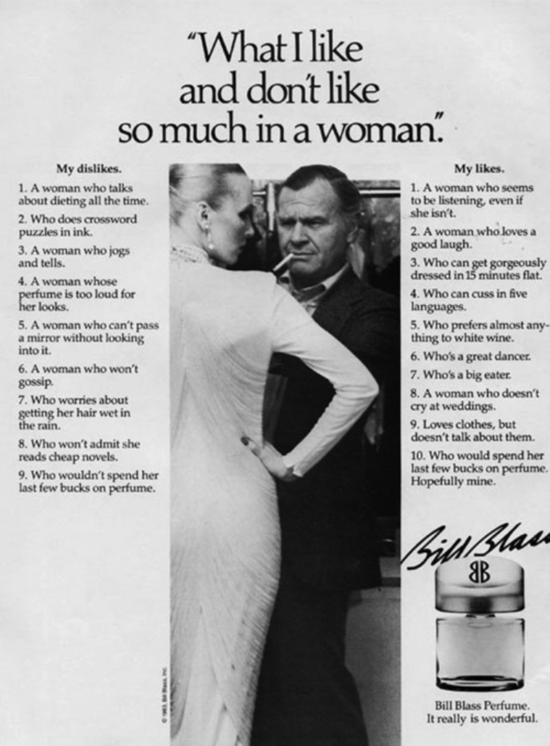 Vintage Perfume Ad Funny Of The Day Coffee And Irony