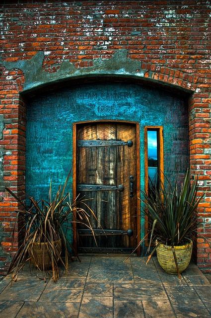 bluehousewooddoor