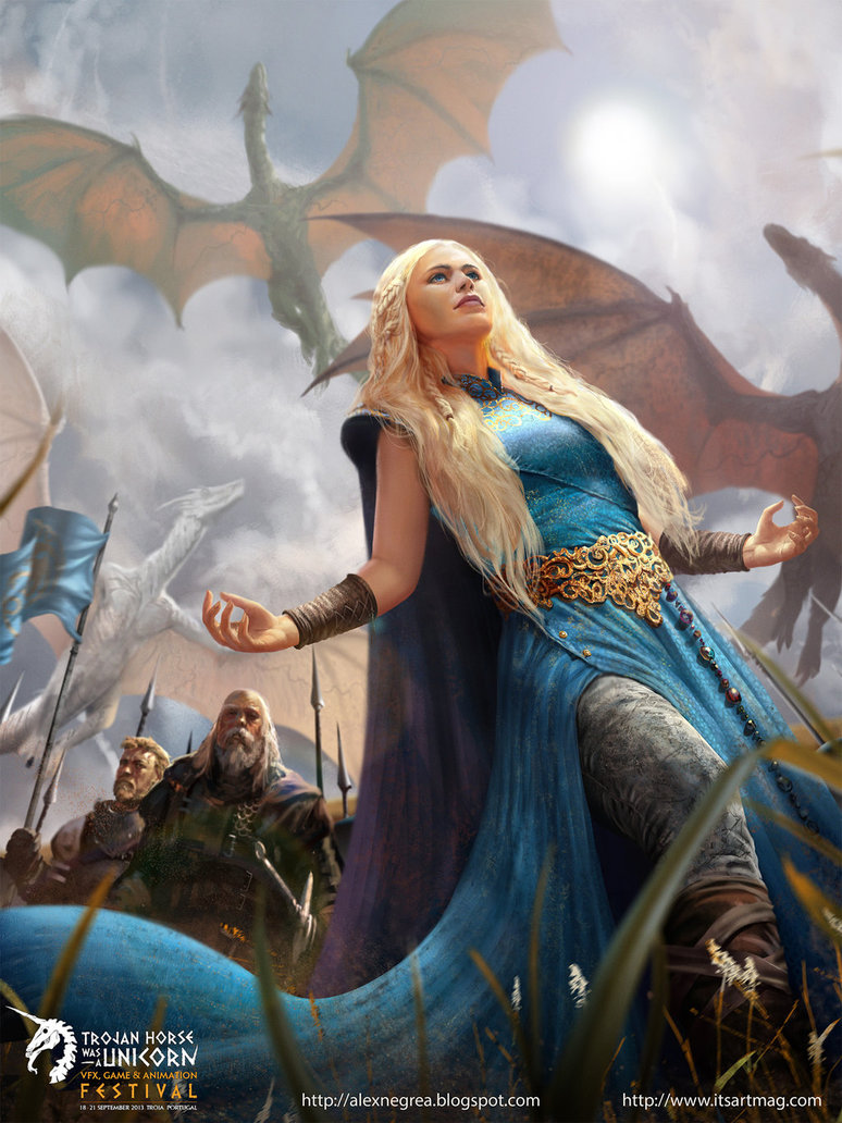 Mother Of Dragons Game Of Thrones Fan Art Coffee And Irony