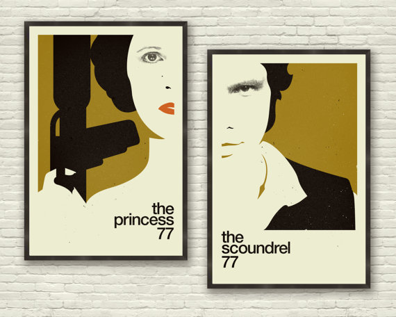 The Princess and The Scoundrel – Star Wars Prints | Coffee and Irony