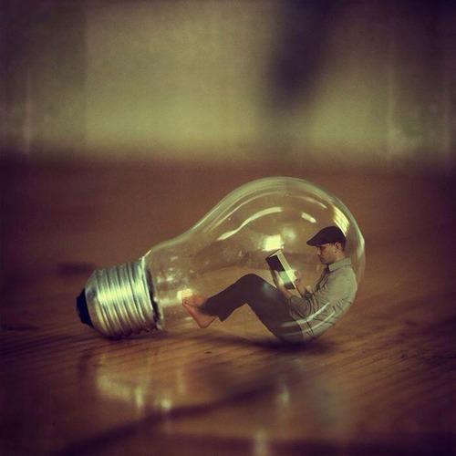 lightbulb art