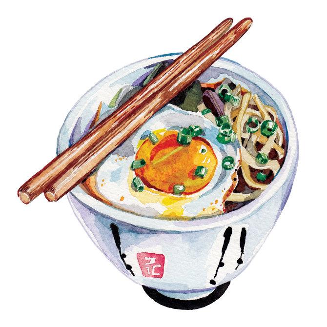 Food Word Art Water Painting