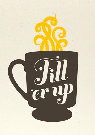 coffee illustration fill er up