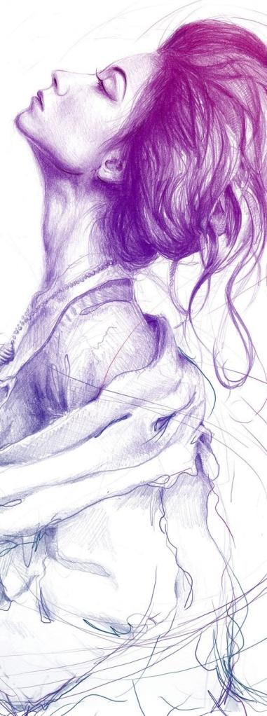 hand drawn portrait woman