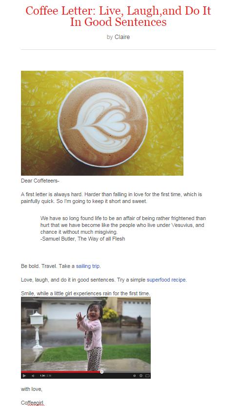coffeeletter