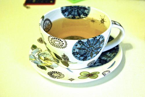 patterned teacup