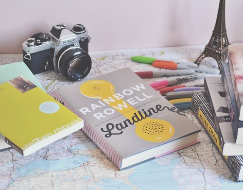 rainbow rowell book maps photo