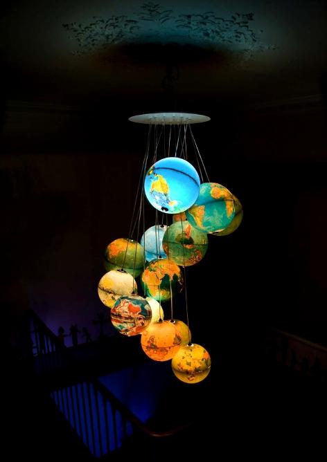 globe handmade chandelier