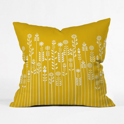 pop garden pillow cover