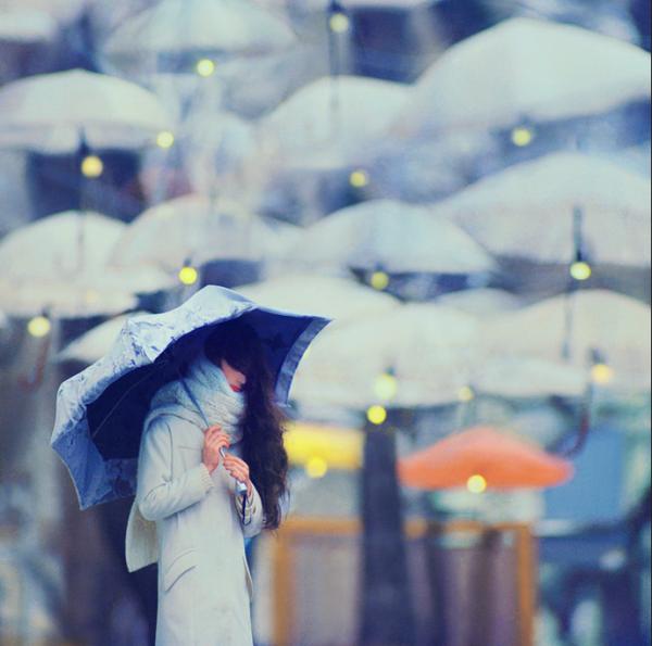 umbrella sparkling lights magic
