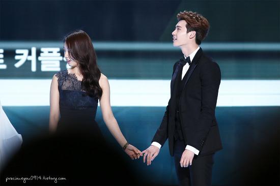 park shin hye lee jong suk sbs drama awards