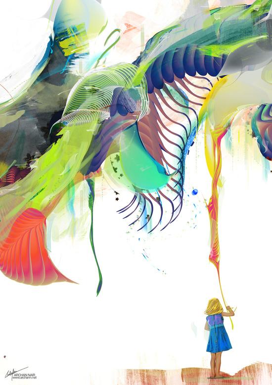 Azalia fantastical art print