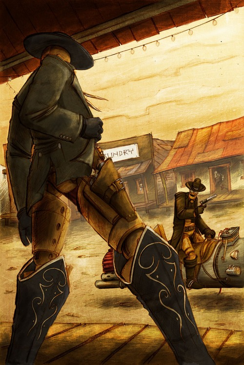 Illustration Love Robot Western Far Out By Gautier Langevin And