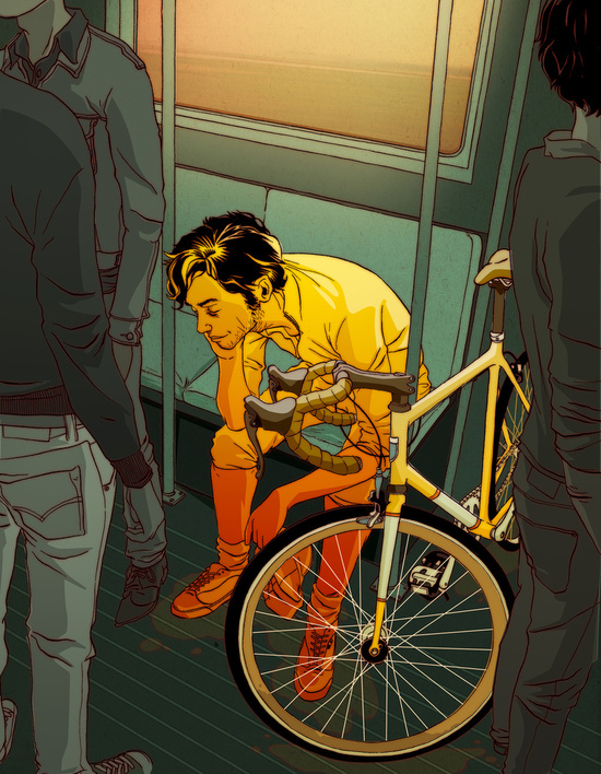 Matt Taylor The Ride biker Illustration