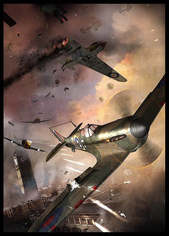 war blitz illustration