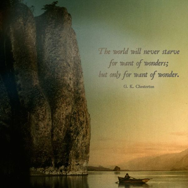 Wonder G.K. Chesterton quote
