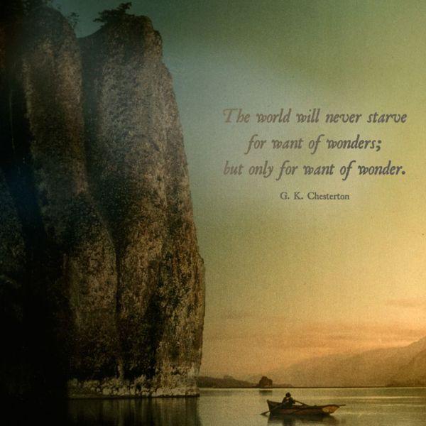Wonder G.K. Chesterton quote
