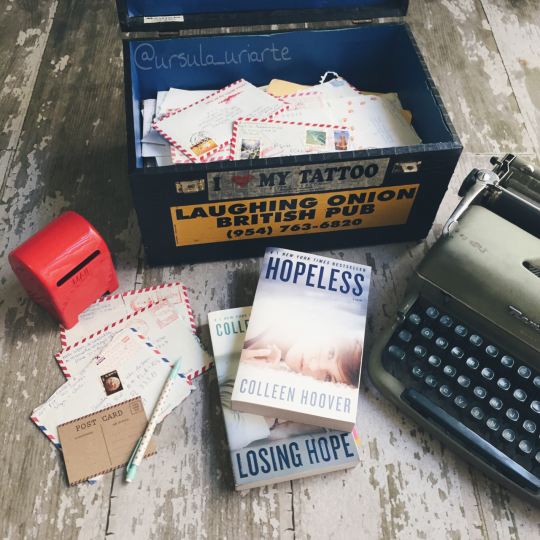 Book photography with typewriter
