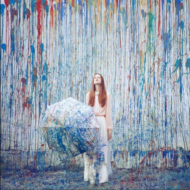 pastel art installation