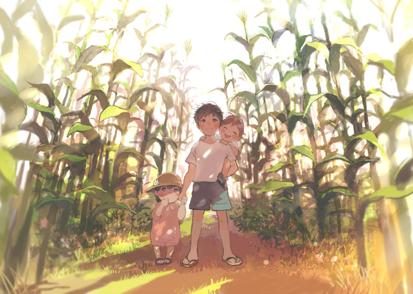 Cornfields illustration