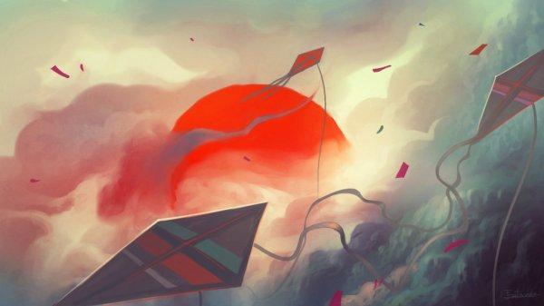 Kites by Frostwindz