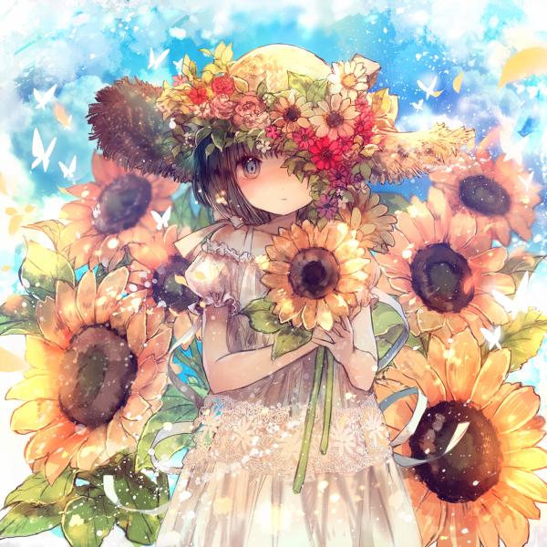 flowers anime art